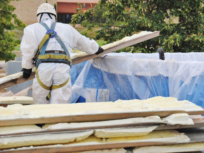 Beispielbild einer Asbestsanierung